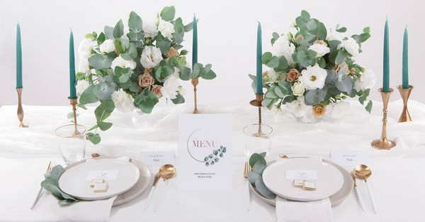dekoracje weselne eukaliptus