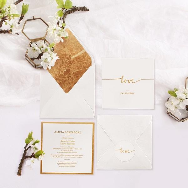 zaproszenia ślubne minimalistyczne