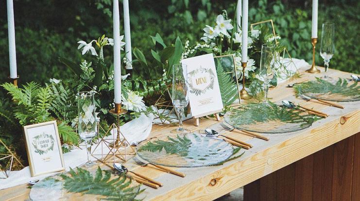 dekoracje komunijne botaniczny styl