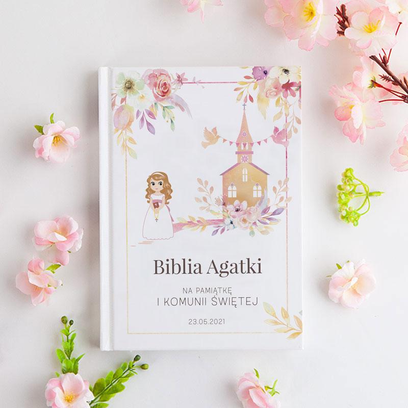 Biblia na Komunię dla dziewczynki