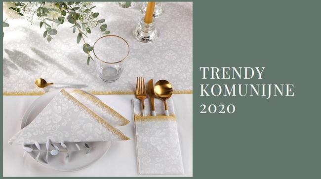 dekoracje komunijne trendy 2020