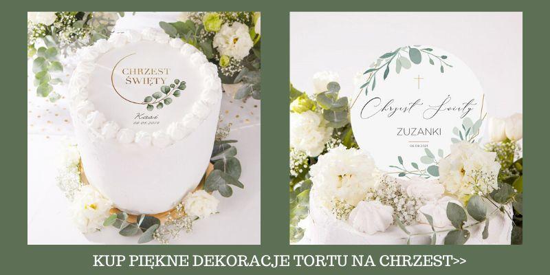Dekoracje tortu na Chrzest
