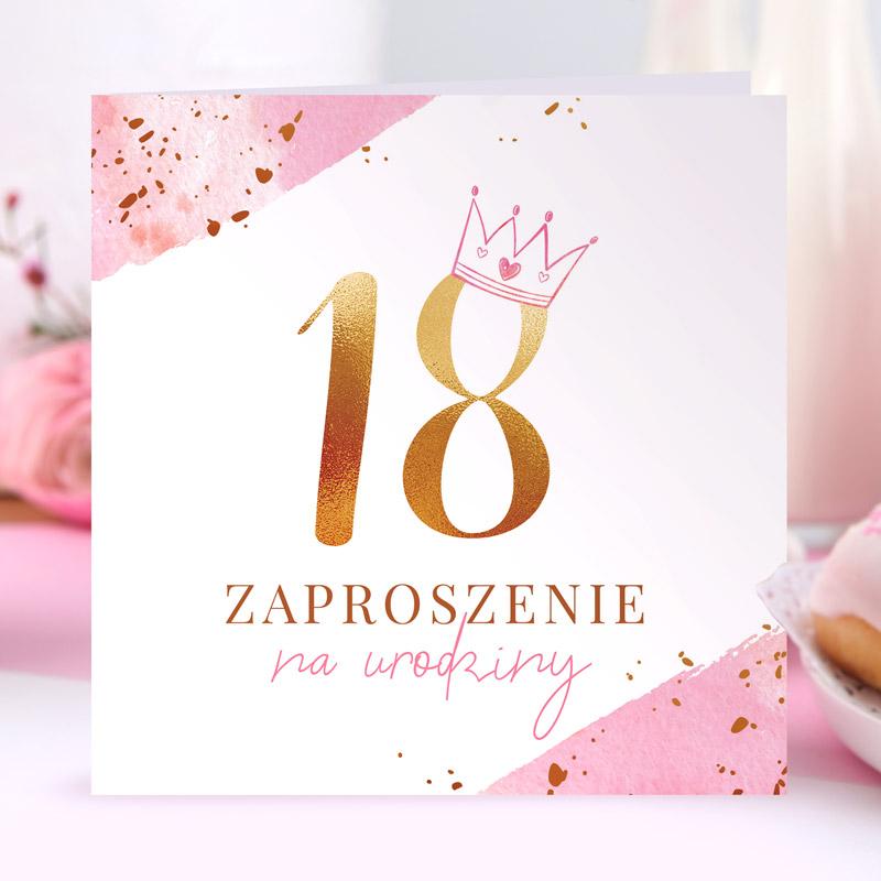 zaproszenia na 18 glamour
