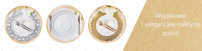 dekoracje komunijne podkładki pod talerze