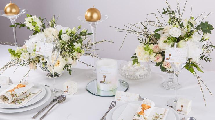 dekoracje stołu komunijnego przykłady