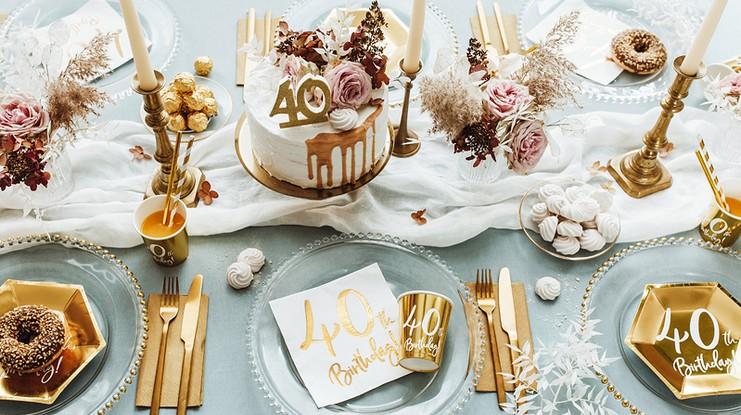 Dekoracje stołu na 40 urodziny