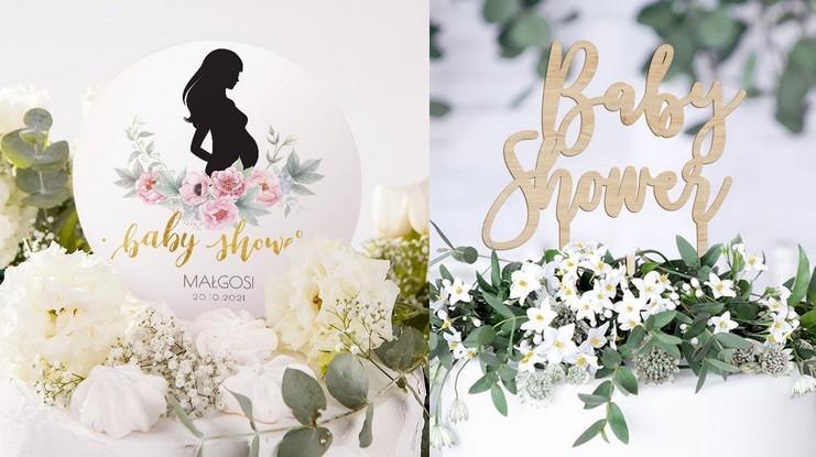 dekoracje tortu baby shower
