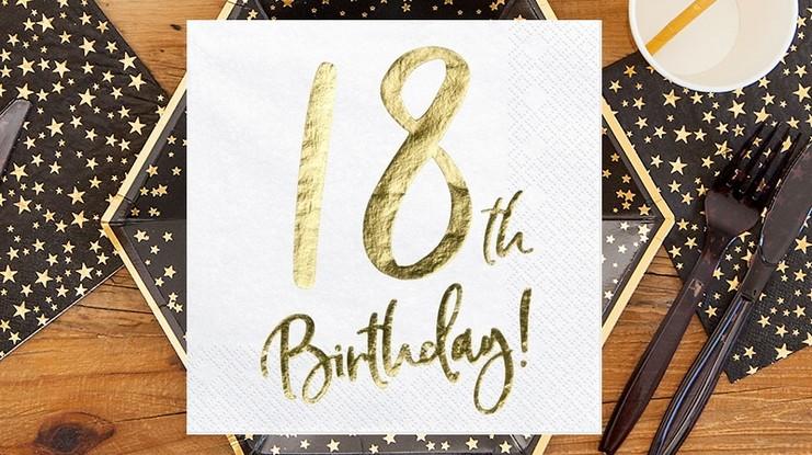 serwetki na 18 urodziny serwetki na 30, 40 i 50