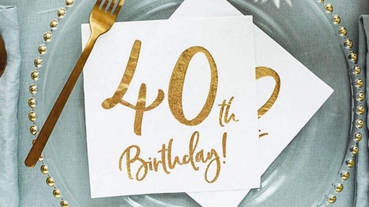 Serwetki na 40 urodziny metaliczne