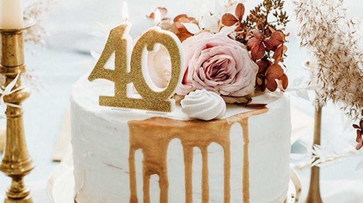 Dekoracje tortu na 40 urodziny
