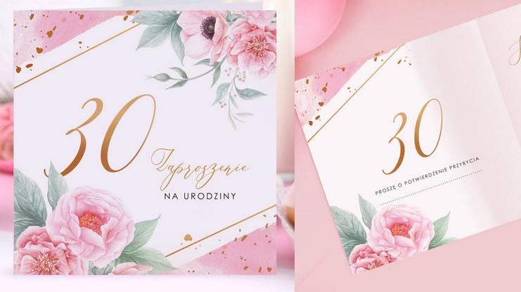 Zaproszenia na 30 urodziny piękne i modne
