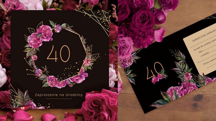 Zaproszenia na 40 urodziny modne wzory