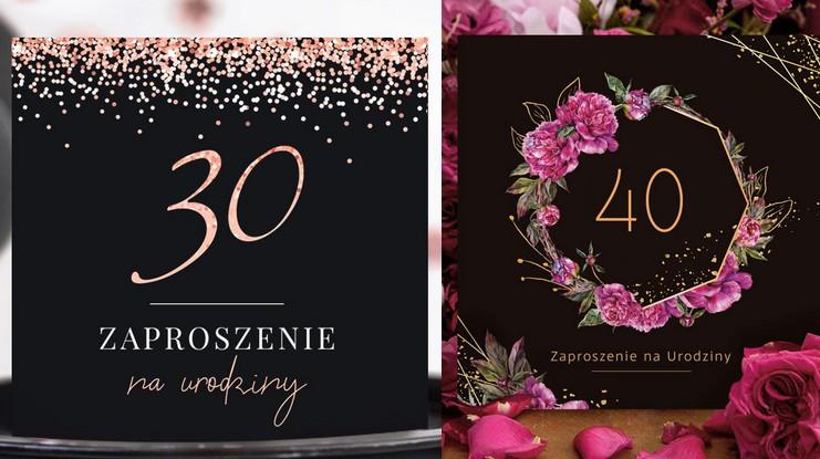 Zaproszenia na 40 urodziny Zaproszenia na 30 urodziny