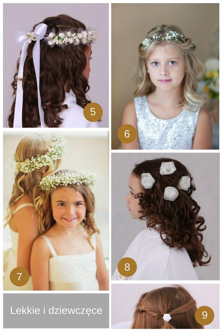 fryzurki komunijne rozpuszczone włosy