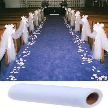 TIUL dekoracyjny w beli 1,5m x 50m BIAŁY
