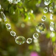 GIRLANDA kryształowa duże i małe kryształki