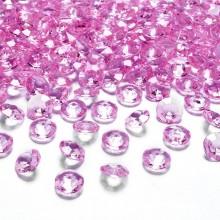 DIAMENCIKI ozdobne na stoły 100szt Jasnoróżowe