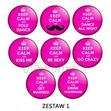 PRZYPINKI Keep Calm and... 8szt