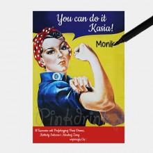"PLAKAT na wpisy ""You Can Do It!\"" Z IMIENIEM 50x70"