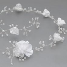 GAŁĄZKA do włosów Białe Róże (08)