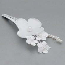 SPINKI do włosów Białe Kwiatki 2szt (6)