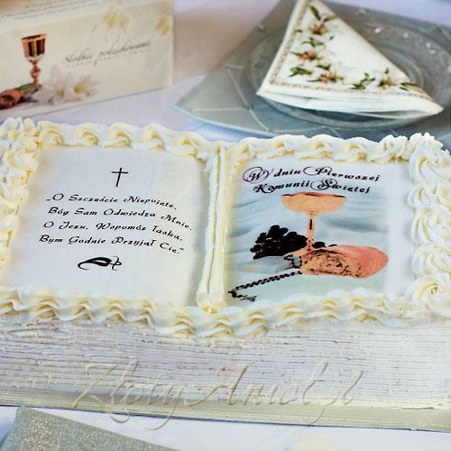 ec749b1a94493e OPŁATEK personalizowany na tort Lilie 21x30cm - Sklep ZłotyAnioł.pl