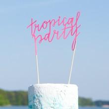 TOPPER dekoracyjny Tropical Party KONIEC SERII