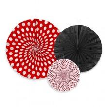 ROZETY dekoracyjne PIN-UP 3szt