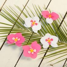 DEKORACJA papierowa orchidee Tropical Party 6szt KONIEC SERII