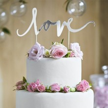 TOPPER dekoracyjny na tort LOVE