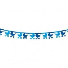 GIRLANDA papierowa Błękitny Wózeczek 360x18x18cm KONIEC SERII