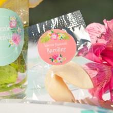 CIASTECZKA z wróżbą Flamingo Party 10szt (+etykiety)