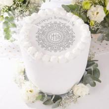 OPŁATEK uniwersalny na tort z napisem Srebrna Hostia Ø20cm (31)