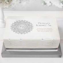 OPŁATEK uniwersalny na tort Srebrna Hostia 21x30cm (32)