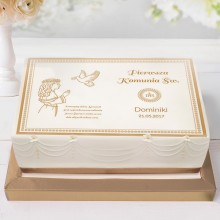 OPŁATEK personalizowany na tort Dziewczynka z Hostią 21x30cm