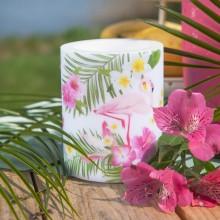 ŚWIECA/LAMPION zapachowa Flamingo Party 12cm/10cm DUŻA