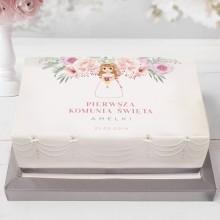 OPŁATEK personalizowany na tort Z dziewczynką Liliowe Love 21x30cm