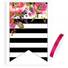 ŁĄCZNIK do baneru + tasiemka Flowers&Stripes ZESTAW