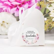 PUDEŁECZKA SERCA Kolekcja Liliowe Love 10szt (+etykiety+białe wstążki)