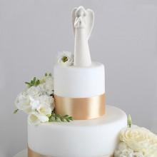 ANIOŁ porcelanowy na tort komunijny 14,5cm OSTATNIA SZTUKA