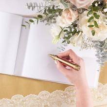 PISAK metaliczny złoty pisak do ksiąg i zaproszeń