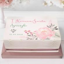 OPŁATEK personalizowany na tort Lovely Peony 21x30cm