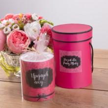 PREZENT dla Przyszłej Panny Młodej Upojna Noc (pudełko+świeca zapachowa)