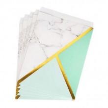 TOREBKI papierowe na słodycze Marble Mint 25szt KONIEC SERII