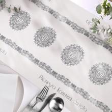 BIEŻNIK dekoracja komunijna stołu Srebrna Hostia 40cmx5m