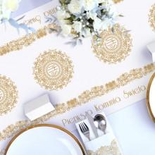 BIEŻNIK dekoracja komunijna stołu IHS Exclusive 40cmx5m