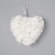 SERCE piankowe z róż i perełkami 15cm