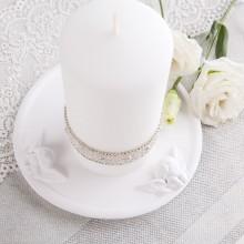 PODSTAWKA ceramiczna na świecę z Aniołkami 15cm KONIEC SERII
