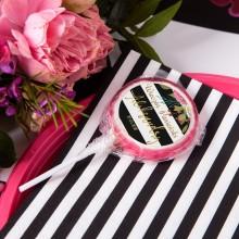 LIZAKI na panieński Flowers&Stripes (+etykiety) 10szt