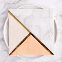 SERWETKI papierowe Marble Peach 33x33cm 16szt KONIEC SERII